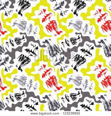 Graffiti bright seamless pattern on a white background vector illustration abstract high quality.