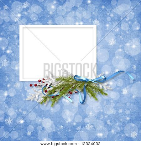 Card For The Holiday With Branches On The Abstract Background