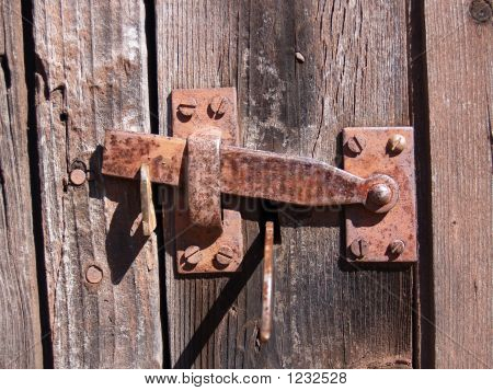 Antique Rusted Latch