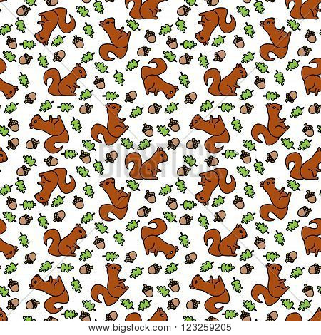 Seamless Squirrel Pattern
