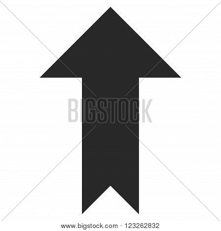 Arrow Up vector icon. Arrow Up icon symbol. Arrow Up icon image. Arrow Up icon picture. Arrow Up pictogram. Flat gray arrow up icon. Isolated arrow up icon graphic. Arrow Up icon illustration.