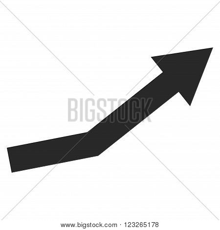 Growth Trend vector icon. Growth Trend icon symbol. Growth Trend icon image. Growth Trend icon picture. Growth Trend pictogram. Flat gray growth trend icon. Isolated growth trend icon graphic.