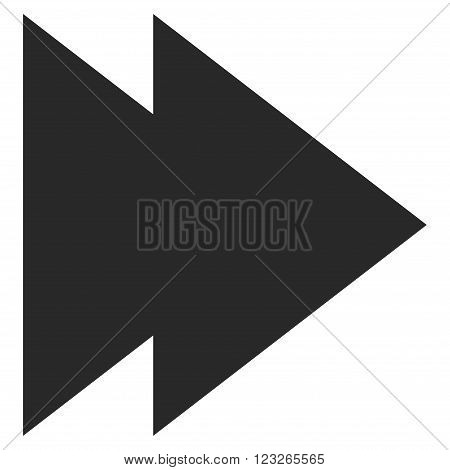 Move Right vector icon. Move Right icon symbol. Move Right icon image. Move Right icon picture. Move Right pictogram. Flat gray move right icon. Isolated move right icon graphic.