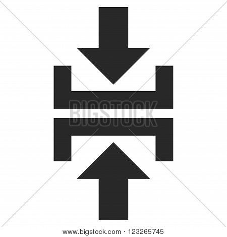 Press Vertical Direction vector icon. Press Vertical Direction icon symbol. Press Vertical Direction icon image. Press Vertical Direction icon picture. Press Vertical Direction pictogram.