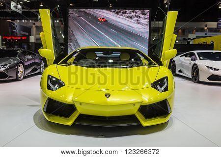 Lamborghini Aventador Lp 700-4 Showed In Thailand The 37Th Bangkok International Motor