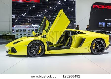 Lamborghini Aventador Lp 700-4 Showed In Thailand The 37Th Bangkok International Motor
