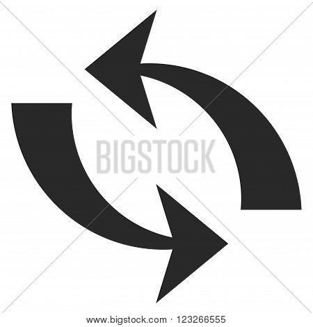 Refresh vector icon. Refresh icon symbol. Refresh icon image. Refresh icon picture. Refresh pictogram. Flat gray refresh icon. Isolated refresh icon graphic. Refresh icon illustration.