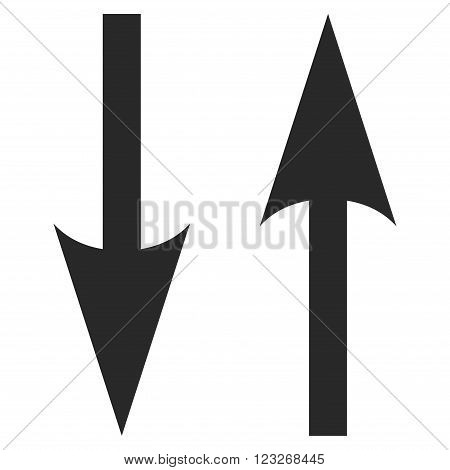 Vertical Exchange Arrows vector icon. Vertical Exchange Arrows icon symbol. Vertical Exchange Arrows icon image. Vertical Exchange Arrows icon picture. Vertical Exchange Arrows pictogram.