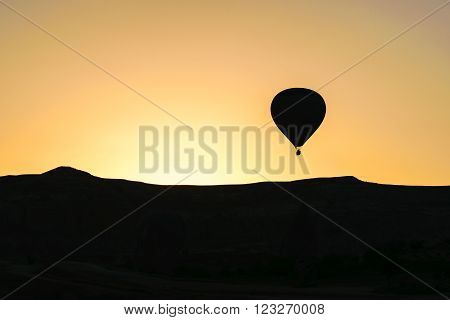 Balloons take off at dawn over Cappadocia Turkey