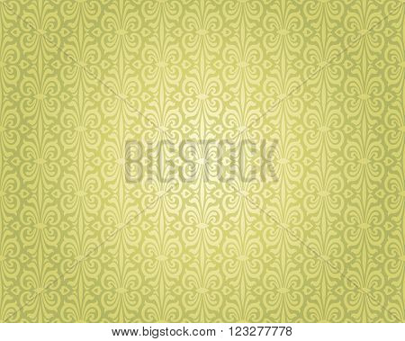 Green vintage repetitive background design pattern decorative
