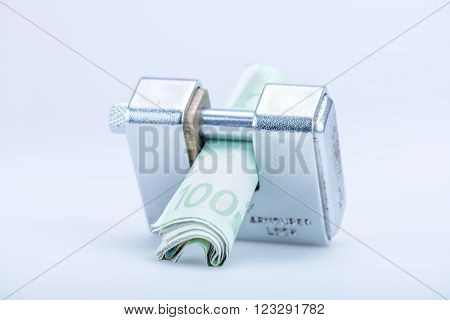 Deadbolt With European Banknotes