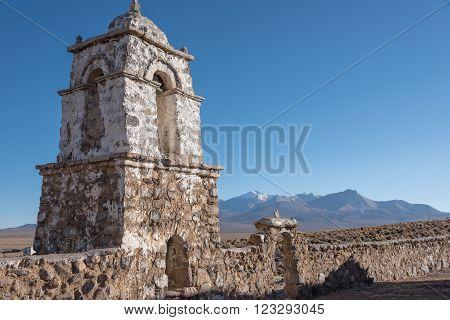 Church in remote area of Altiplano Bolivia, South America