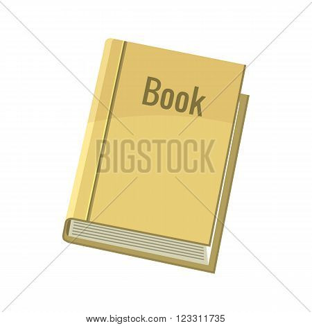 Book icon in cartoon style on a white background
