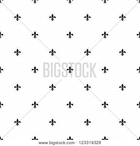 fleur de lis seamless pattern background. new orlean lily flower repeated pattern. royal french heraldic symbol. fleur de lis diagonal ornament. vector illustration
