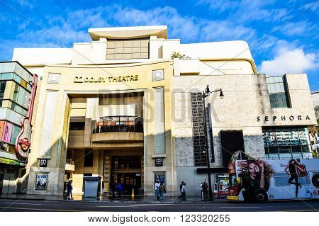 USA, California, Los Angeles, Hollywood, 29 Janua 2015. Dolby Theatre (aka Kodak Theatre) is home of the Academy Awards (aka Oscars) as seen in Los Angeles (Hollywood)