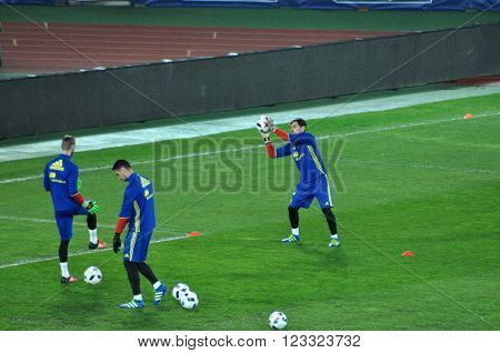 Goalkeeper Of Spain, Iker Casillas During The Training Session