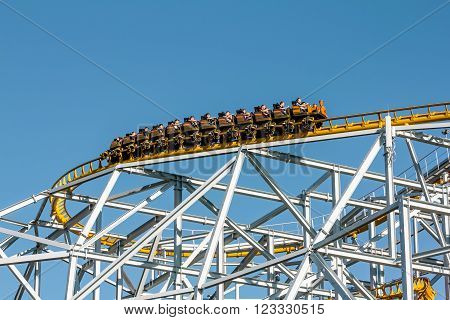 June 8, 2013 .Saint-Petersburg.Roller coaster at the amusement Park