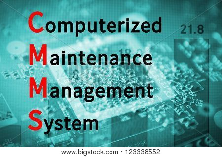 Acronym CMMS as Computerized Maintenance Management System