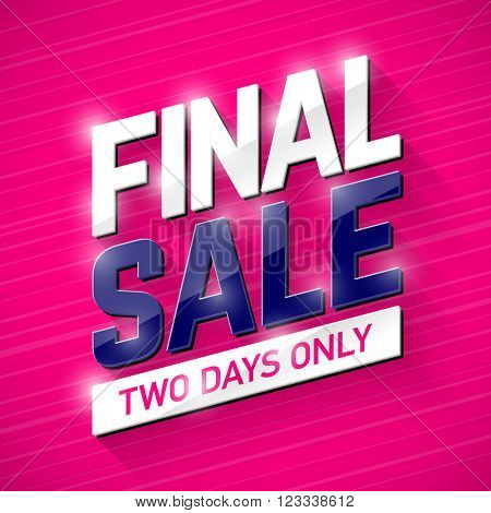 Final Sale banner. Special offer, big sale, clearance. Vector.