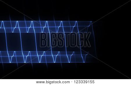 Abstract background of the curve lines of harmonic oscillation