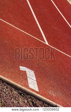 first start position on red tartan track