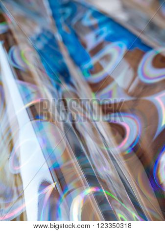 Abstract blurred blue and silver circles background