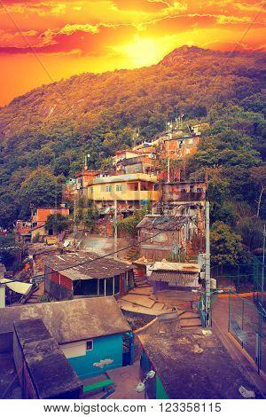 Rio De Janeiro Downtown And Favela