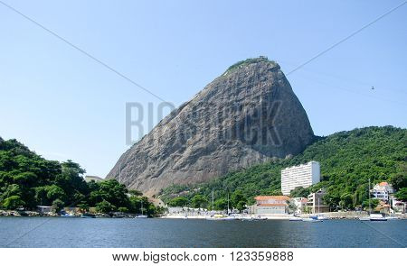 Spectacular panorama of Rio de Janeiro Brazil - mountain view