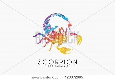 Scorpion logo design. Color scorpion. Creative logo.