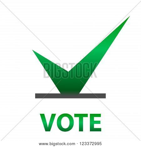 Voting Symbols vector design. template Elections icons. check marks. Vector green. Cast your vote.