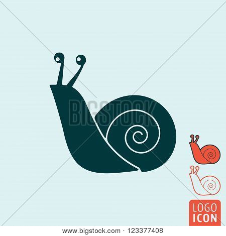 Snail icon. Snail symbol. Snail logo isolated. Vector illustration