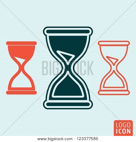 Hourglass icon. Hourglass symbol. Hourglass icon isolated. Vector illustration