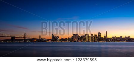 San Francisco Skyline At Dusk