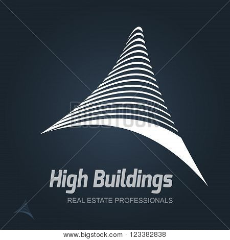 Real Estate Business sign  vector template for architecture bureau home insurance brokerage building & renovation business. Business graphics. Corporate web site element. Sample text