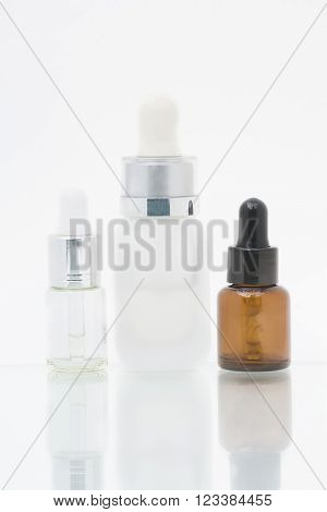 Isolated Serum Bottles