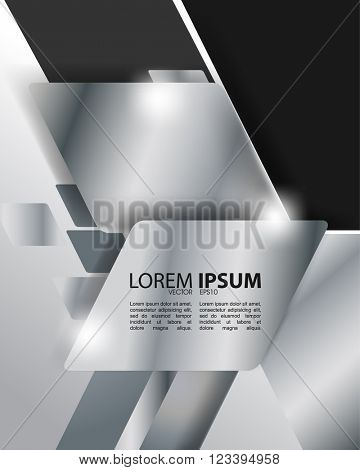 eps10 vector metallic concept material corporate design