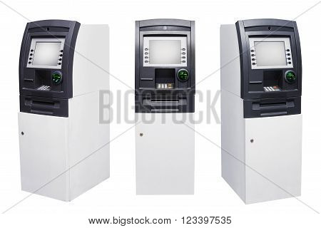 Set Of Automated Teller Machine