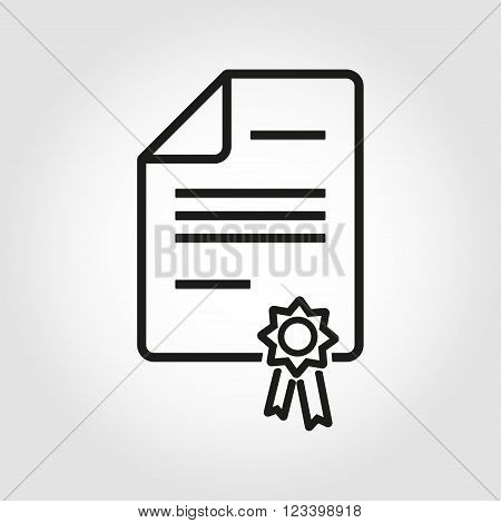 Vector line patent icon on grey background
