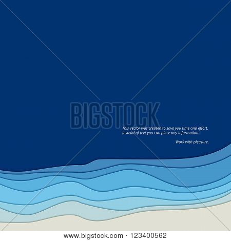Abstract background, the form of waves with shadow. Smooth twist light lines abstract background. Wave abstract dynamic design.