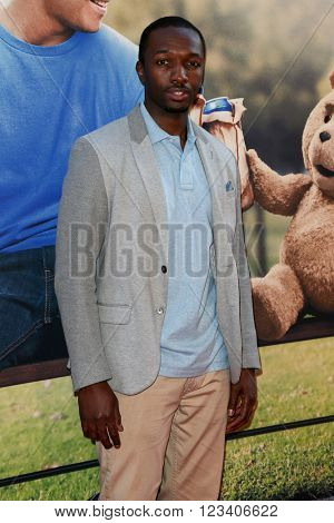 NEW YORK-JUN 24: Jamie Hector attends the 'Ted 2' world premiere at the Ziegfeld Theatre on June 24, 2015 in New York City.