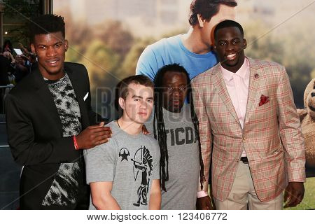 NEW YORK-JUN 24: NBA players Jimmy Butler (L) and Draymond Green (R) attend the 'Ted 2' world premiere at the Ziegfeld Theatre on June 24, 2015 in New York City.