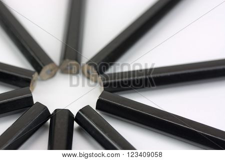 Close Up Of Pencils In A Circle