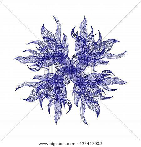 Bright Blue Floral Vector