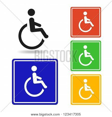 Disabled icon - Vector. disabled pictogram for logo with disabled handicap symbol