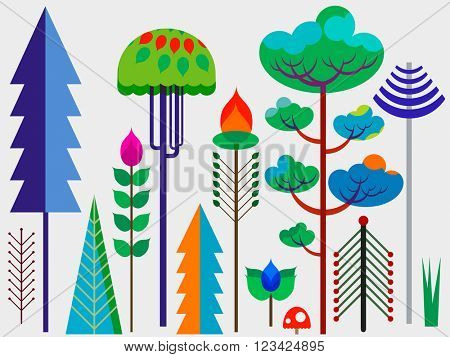 forest whimsy trees