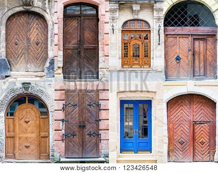 A Photo Collage Of Front Doors To Houses And Homes
