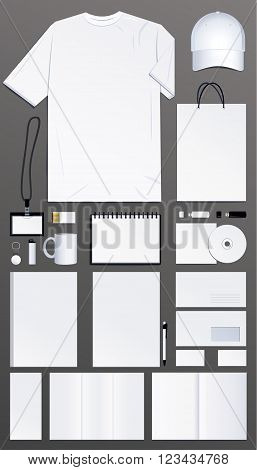 Samples for corporate identity design, Vector illustration.