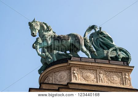 Monument In Budapest, Hungary