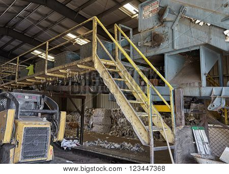Paper compacting recycle plant machine industrial waste