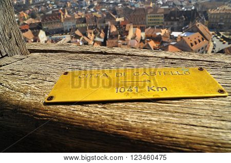 Distance Markers - The Tower Of Sighisoara Citadel